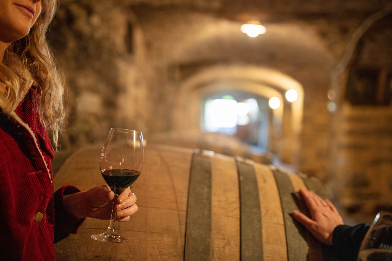 Best Cosy Winter Getaways in South Australia - glass of wine Day trips from Adelaide