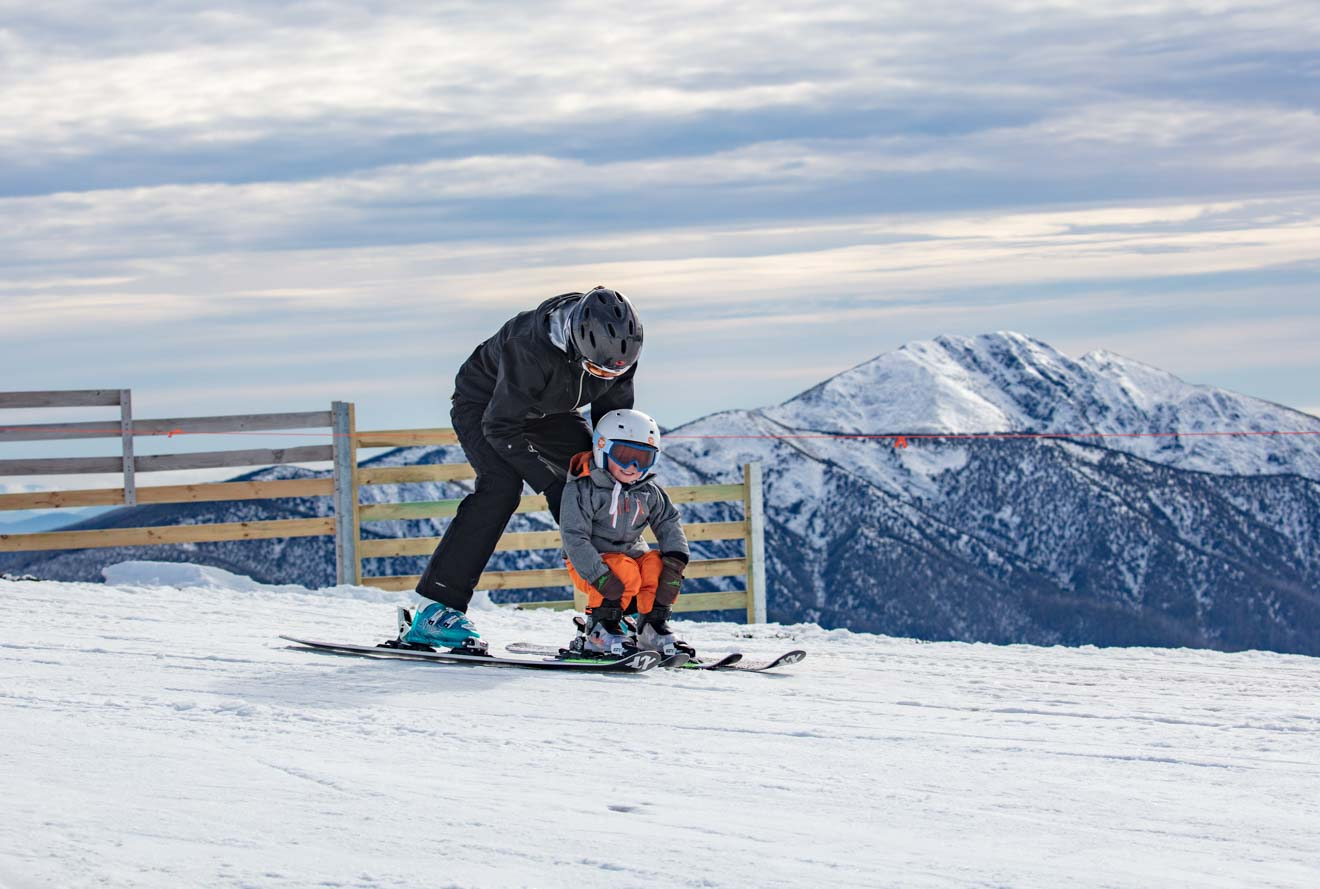 top things to do with kids - snowboarding Mt Buller or Mt Hotham