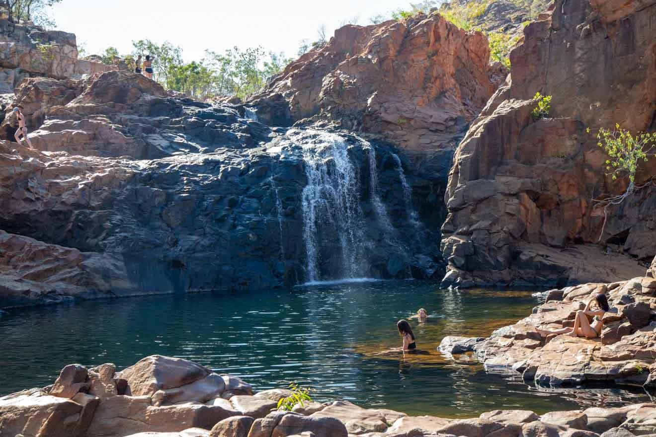 waterfall Darwin to Alice Springs, Northern Territory, Australia